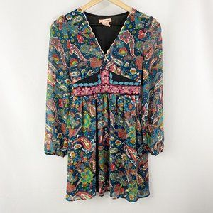 Flying Tomato Paisley Peasant Dress Size Small